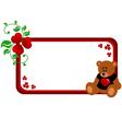 Bear banner vector image vector image