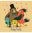 birds happy family vector image
