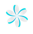 blue paper cutout flower vector image vector image
