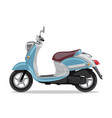 blue retro scooter flat style side view vector image vector image