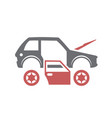 car breakdown icon on white background for graphic vector image
