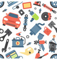 car service repair parts icons vehicle and vector image vector image