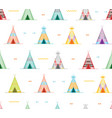 cartoon wigwams or tepees background pattern vector image vector image