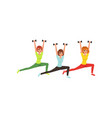 cartoon women doing exercise with dumbbells butt vector image vector image
