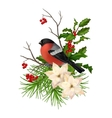 Christmas decorative composition vector image vector image