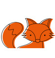 color adorable fox wild animal of the forest vector image vector image