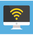 Computer Display Wifi Icon vector image