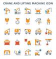 crane lifting icon vector image vector image