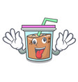 crazy bubble tea mascot cartoon vector image