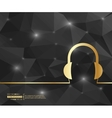 Creative headphone Art vector image