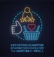 customer satisfaction neon light concept icon vector image vector image