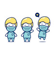 cute chibi medical surgery surgeon doctor staff vector image vector image