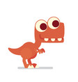 cute t-rex dinosaur life of vector image