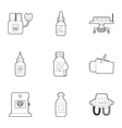 Diagnostic center icons set outline style vector image vector image