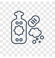 dish soap concept linear icon isolated on vector image