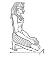 egyptian sculpture is a side view figure in vector image vector image
