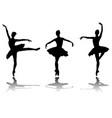 elegant ballerinas silhouettes vector image vector image