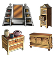 Evolution of furniture vector image vector image