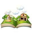 Farm book vector image vector image