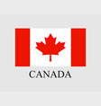 flag canada on light background in flat style vector image vector image