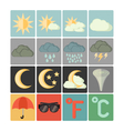 flat icons weather vector image