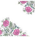 flower design ornament frame vector image vector image