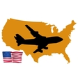 fly me to the United States vector image vector image