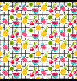 fruits patches seamless pattern vector image vector image