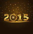golden 2015 year card presentation vector image vector image