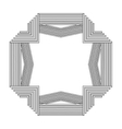 grayscale pattern with art deco frame vector image