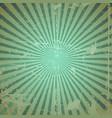 grunge sunburst vector image vector image