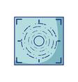 gun sight circle with shooting focus vector image
