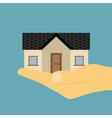 hand holding house vector image vector image
