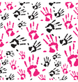 hand print pattern vector image vector image
