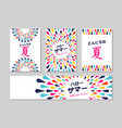 hello summer japanese greeting card label set