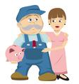 husband wife savings vector image vector image