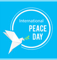international peace day origami dove birds circle vector image vector image