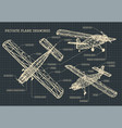 light private plane drawings vector image