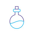 line erlenmeyer flak with chemical potion vector image vector image