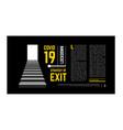 lockdown exit conceptual against vector image vector image