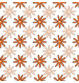 lots blooms seamless repeat pattern vector image vector image