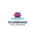 Lotus flower logo beauty spa salon logo design