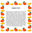 mango frame with text vector image vector image