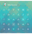 Medicine Line Icons vector image vector image