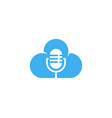 microphone podcast cloud symbol web icon logo vector image vector image