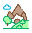mountain landscape icon outline vector image