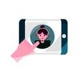 online activities smartphone content video vector image vector image