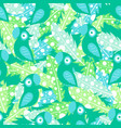 pattern with feathers and parrot vector image vector image