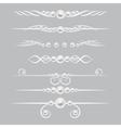 Pearl dividers page decor set vector image