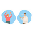 people shouting quarrel vector image vector image